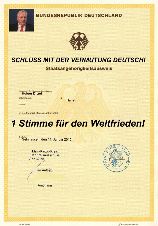 Weltfrieden - Petition zum Friedensvertrag